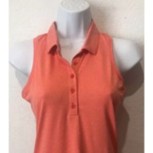 NIKE GOLF Coral Dri Fit Sleeveless Polo Women's